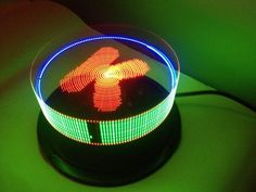 POV disk. - Persistence of vision display. This creates similar effect like light photography but in real time.