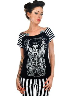 """Women's """"Release The Bats"""" Bolivar Tee by Too Fast (Black)"""