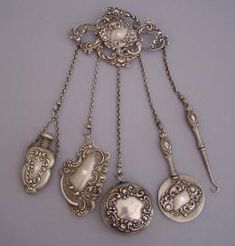 Once upon a time in the olden days, ladies wore a handy implement clipped to their waist or bosom. It was called a chatelaine, and it was both beautiful and functional...