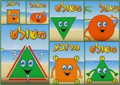 Иврит алфавит: Геометрические формы. Слова, песни и уроки