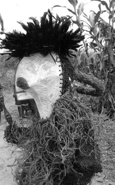 "Africa | ""Kifwebe"" masquerader.  Songye people, DR Congo.  1972 