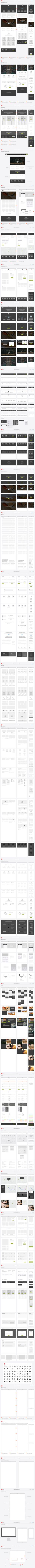 A full preview of our Responsive Website Wireframe Kit with 30 pages of content blocks, website elements, icons, wireframe examples and templates. http://uxkits.com/products/responsive-website-wireframe-kit