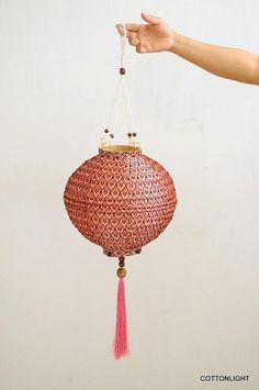 Chinese oriental Pastel Pink romantic color hanging by cottonlight, $15.90