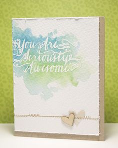 A Winner & Two Gorgeous Projects - Avery Elle Pretty Cards, Love Cards, Watercolor Cards, Watercolor Wood, Beautiful Handmade Cards, Heart Cards, Card Making Inspiration, Card Maker, Card Tags
