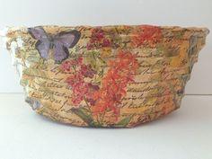 DIY Decoupage Bread Basket :: Hometalk
