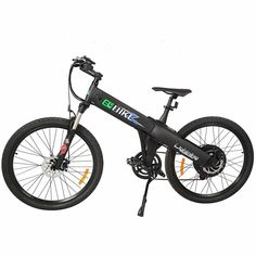 New Electric Bike Matt Black Electric Bicycle Mountain Lithium Battery City Ebike, Electric Mountain Bikes New Electric Bike, Best Electric Bikes, Folding Electric Bike, Electric Mountain Bike, Best Exercise Bike, Exercise Bike Reviews, Mountain Bike Pedals, Mountain Biking, E Bicycle