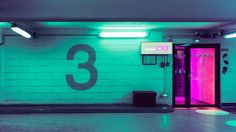 neon, glow, and green image