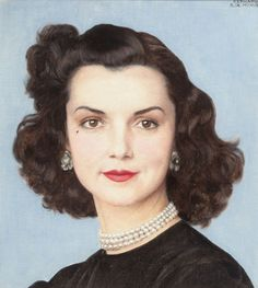 "BERNARD BOUTET DE MONVEL (French, 1881-1949). ""Portrait of Brenda Frazier"". Oil and pencil on canvas."