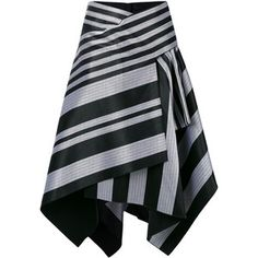 This black cotton striped skirt from Proenza Schouler is a dramatic yet dynamic design that can be incorporated into your workwear or evening outfit. This fla…Browse the superb asymmetrical skirts edit at Farfetch. Skirt Pants, Dress Skirt, Skater Skirt, Maxi Skirts, Maxi Dresses, Evening Skirts, Draped Skirt, Asymmetrical Skirt, Stripe Skirt