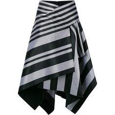 Proenza Schouler striped asymmetric skirt