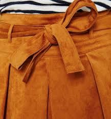 paper bag suedine skirt