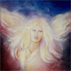 """Angel of Light"" Oil panting, hand painted"