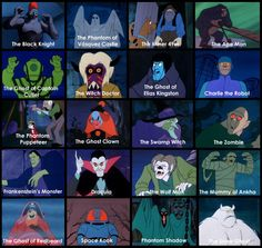 Scooby-Doo Where Are You! bad guys from season one.