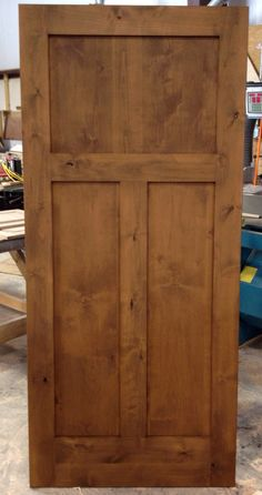 SW1113   PreFinished Interior Knotty Alder Craftsman Style Door