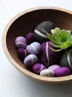 Felted Pebble Set in Purples Purple Lipstick, Purple Nails, Pebble Mosaic, Pebble Art, Purple Furniture, Purple Rooms, Quick Crafts, Felt Decorations, Purple Reign