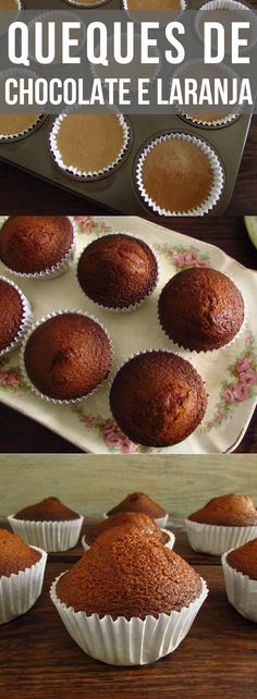 The fusion between chocolate and orange is simply delicious and everyone loves it! If you are going to have a party among friends and want to prepare. Orange Muffins, Lemon Muffins, Real Food Recipes, Dessert Recipes, Yummy Food, Desserts, Chocolates, Chocolate Orange, Chocolate And Orange Cupcakes