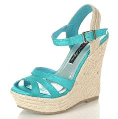 ocean blue wedges by Dreams