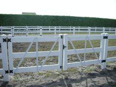 Vinyl Fencing For Horses vinyl ranch fence gate - 3 rail white   horse fence   pinterest