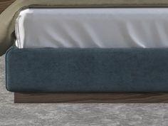 Cama completa tapizada en terciopelo con detalles en madera de nogal americano. Mod: DORIANNE NOGAL Bed Headboard Design, Bedroom Furniture Design, Headboards For Beds, Bed Back Design, Bed Design, Wood And Upholstered Bed, Bed Frame With Storage, Wood Detail, Bed Base