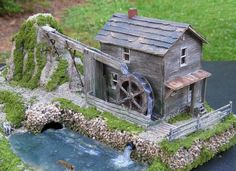 Water Mill Diorama ~ HO Scale Model Train Structure #modeltrainlayoutsideas