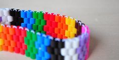 Peeler bead bracelets - this looks like a really fun craft for the 8 and over set - minimal materials and relaxing