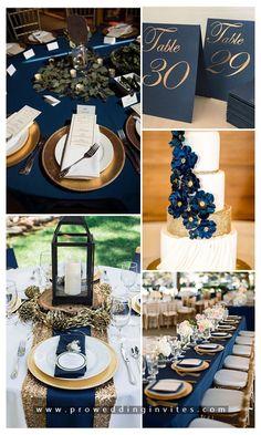 7 Classic Navy Blue Wedding Colors We Cannot Get Enough of Navy Blue And Gold Wedding, Navy Wedding Colors, Winter Wedding Colors, Gold Wedding Theme, Winter Weddings, Burgundy Wedding, Fall Wedding, Dark Blue Weddings, Wedding Flowers