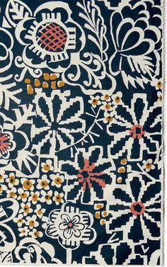Illustration textile : motif de fleurs, noir-blanc