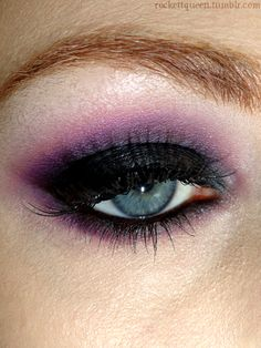 opposite of last purple smoky eye (dark inner, light outer)