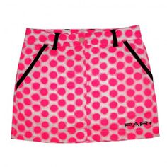Girls Fashion Junior Golf Skort Pink Dots - very cute skort with the colors.  Looks great paired with one of the polo's also!
