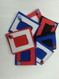 Keçeden çerçeve magnet Felt Crafts, Craft Gifts, Scrapbook Pages, Magnets, Christmas Ornaments, Sewing, Holiday Decor, Frame, Kids