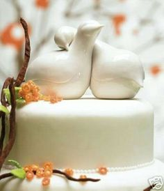Contemporary Love Birds Porcelain Wedding Cake Topper-in Event & Party Supplies from Home & Garden on Aliexpress.com