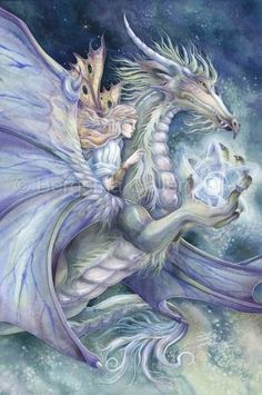 Bergsma Gallery Press :: Paintings :: Fantasy :: Faeries :: Never Give Up and Good Luck Will Find You - Prints: