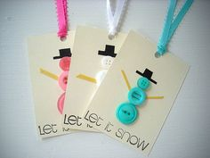 Snowman Christmas Gift Tags Buttons by LilpaperBoutique on Etsy, $3.50