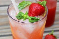 Strawberry Basil Soda - Punchfork