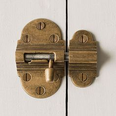A small door bolt in solid brass, designed to suit both period and contemporary properties, in an antiqued brass finish. Bathroom Door Hooks, Brass Bathroom, Internal Door Locks, Barn Door Locks, Bolt Lock, Woodworking Shows, Small Doors, Security Door, Diy Molding