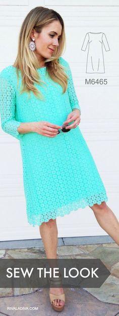 Coser el look: Blogger Riva hizo este vestido de encaje elegante (inspirado en un vestido de Juicy Couture) utilizando modelo de vestido M6465 de McCall y la tela de Jo-Ann.  Leer sus notas de costura DIY .: