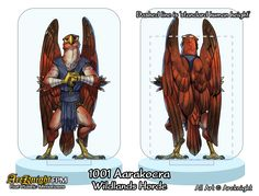 1001 Aarakocra from the Wildlands Horde, also available in VTT format through patreon; https://www.patreon.com/Arcknight