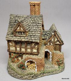 David #Winter The #Bakehouse Tudor Cottage Figurine UK 1983 4in Orig Label Signed