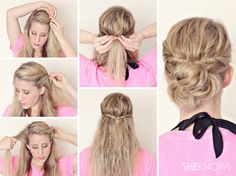 Twisted Messy Bun. Great for wet hair!