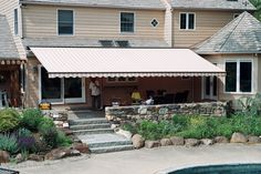 Milanese Remodeling - Chester County windows, siding, awnings and Fabric Awning, Patio Awnings, Retractable Awning, Cool Deck, Shade Structure, Exterior Remodel, Outdoor Living, Outdoor Decor, Fabric Shades