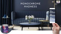 When it comes to interior decoration, we always have the option to go crazy with colors but sometimes less is more. Welcome to the Monochrome Madness series which talks of the nuances of a single color & how it can transform your room's aesthetic. Pictured here is a room painted in Silk Glamor Velvet Blue. Are you thinking of going Monochrome any time soon?  Give us a call if you feel this room and want it for yourself: 1800 103 6030  #BergerPaints #BergerHomes #LuxuryHomes #PaintYourImagination