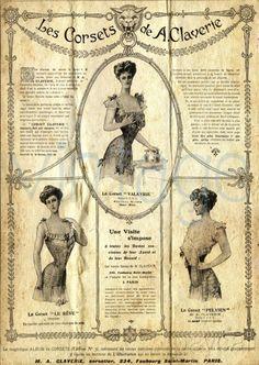 The french CORSET  r23  Kunstdruck Digiprint  von Vintage Prints auf DaWanda.com