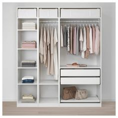 Walk In Closet Hacks Ikea Pax Wardrobe Ideas Ikea Pax Wardrobe, Ikea Closet, Diy Wardrobe, Bedroom Wardrobe, Wardrobe Ideas, Wardrobe Storage, Bedroom Closets, White Wardrobe, Attic Closet