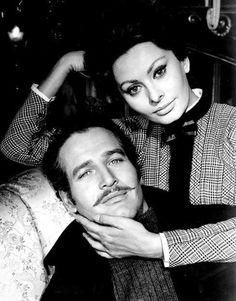 Paul Newman and Sophia Loren