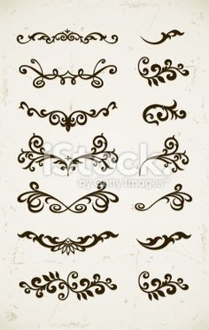 Illustration about Set of vintage decorative patterns on grunge backgound. Illustration of decor, monogram, contour - 17702333 Henna Mehndi, Henna Tattoos, Arte Mehendi, Henna Tattoo Muster, Paisley Tattoos, Body Tattoos, Mehndi Designs, Mehndi Patterns, Henna Tattoo Designs