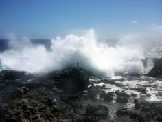 The Nakalele Blowhole on Maui's northern shore is a favored spot by visitors and locals alike.