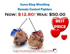 So much fun!! Get the highly rated Sumo King Remote Control Wrestlers for only $12.80! Best Price! What a great gift idea!  Click the link below to get all of the details ► http://www.thecouponingcouple.com/sumo-king-wrestling-rc-fighters-only-12-80-was-50/ #Coupons #Couponing #CouponCommunity  Visit us at http://www.thecouponingcouple.com for more great posts!