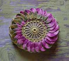 Crocheted Lace Flower Stone, Irish Lace Inspired, Floral Pattern, Handmade by Monicaj on Etsy Crochet Stone, Crochet Art, Crochet Gifts, Irish Crochet, Crochet Motif, Crochet Flowers, Crochet Patterns, Crocheted Lace, Freeform Crochet