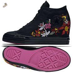 4a1cf83bb5d Converse x PatBo Women s Chuck Taylor All Star Lux Mid Black Black Bright  Pink