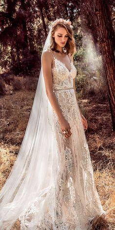 a line sleeveless spaghetti straps sweetheart neckline wedding dresses 2018 galia lahav